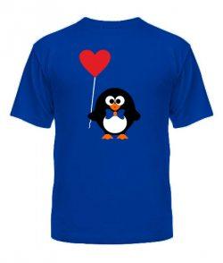 Футболка-мужская-синяя(XХL)- Пингвинята