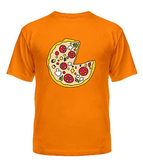 Мужская Футболка Пицца