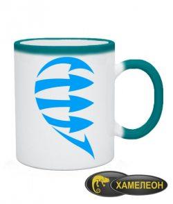 Чашка хамелеон Половинки (для него)