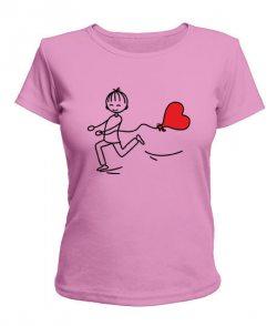 Женская футболка Спешу любить