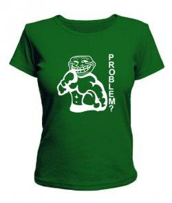 Женская футболка Problem - боксер