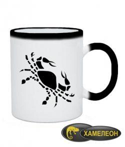 Чашка хамелеон Рак