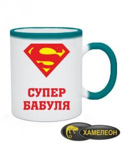 Чашка хамелеон Супер бабуля