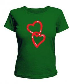 Женская футболка Сердца