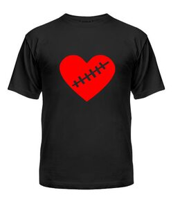 Мужская Футболка Сердце Вариант №1