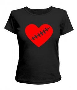 Женская футболка Сердце Вариант №1