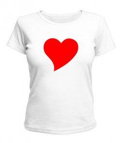 Женская футболка Сердце Вариант №8