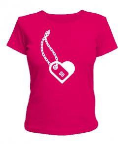 Женская футболка Сердце Вариант №3