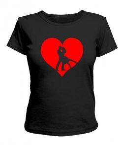 Женская футболка Сердце Вариант №5