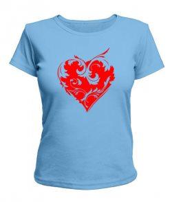 Женская футболка Сердце Вариант №7
