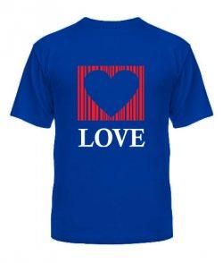 Мужская футболка Сердце - любовь