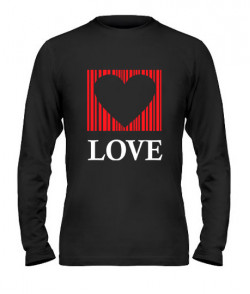 Мужской лонгслив Сердце - любовь