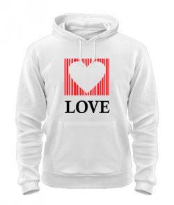 Толстовка Сердце - любовь (для него)
