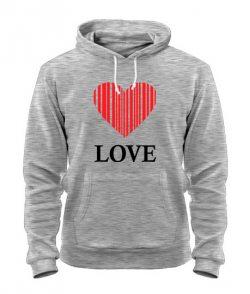 Толстовка Сердце - любовь (для нее)