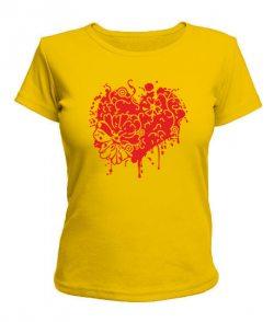 Женская футболка Сердце Вариант №9