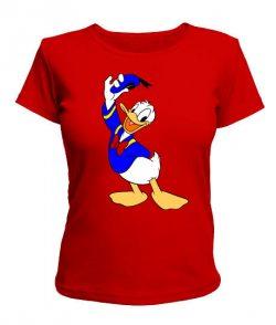 Женская футболка Дональд Дак Вариант №2