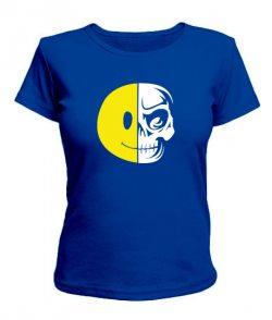 Женская футболка Смайл-череп