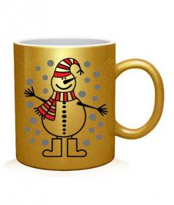 Чашка арт Снеговичок №3