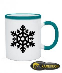 Чашка хамелеон Снежинка