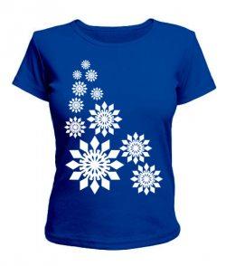 Женская футболка Снежинки