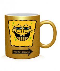 Чашка арт Спанч бобы (для него)