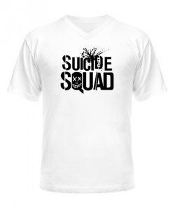 Мужская Футболка с V-образным вырезом Suicide Squad