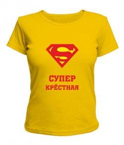 Женская футболка Супер крестная