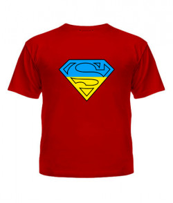 Футболка детская Супермен - Ukraine