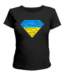 Женская футболка Супермен - Ukraine