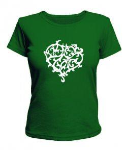 Женская футболка Сердце №9