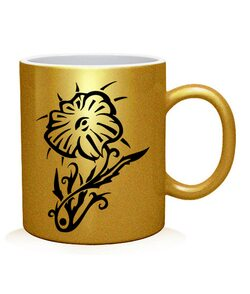 Чашка арт Тату Цветок-4