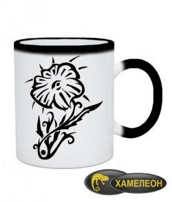 Чашка хамелеон Тату Цветок-4