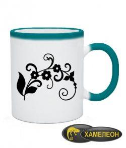 Чашка хамелеон Тату Цветок-5