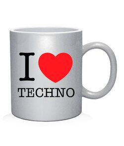 Чашка арт I love techno 2