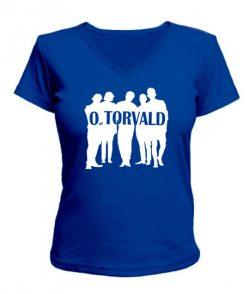 Женская футболка с V-образным вырезом O.Torvald №6