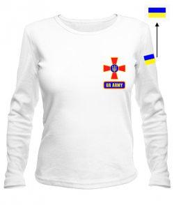 Женский лонгслив UA army №2