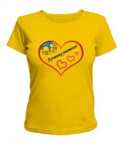 Женская футболка Лучшему учителю