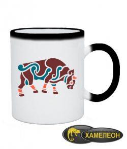 Чашка хамелеон Кельтский узор Вариант №11