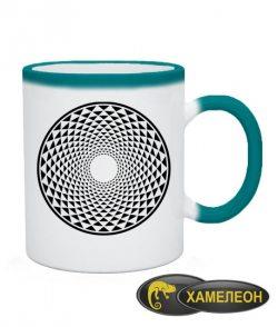 Чашка хамелеон Кельтский узор Вариант №3