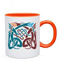 Чашка Кельтский узор Вариант №8