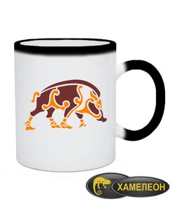 Чашка хамелеон Кельтский узор Вариант №9