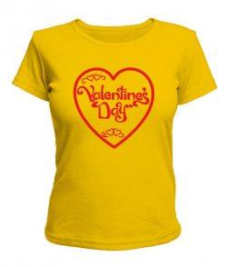 Женская футболка Valentine`s day Вариант №3
