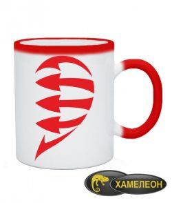 Чашка хамелеон Половинки (для нее)
