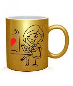 Чашка арт Виртуальная любовь (для нее)