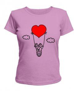 Женская футболка Влюбленная пара
