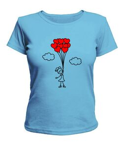 Женская футболка Влюбленная девочка