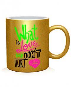 Чашка арт What is Love (для него)