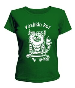 Женская футболка Yoshkin kot