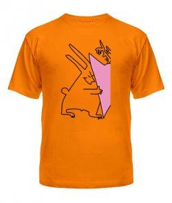 Мужская футболка Зайчики