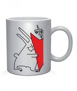 Чашка арт Зайчики (для него)